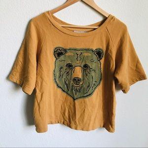 ASOS mustard Bear Top size 6